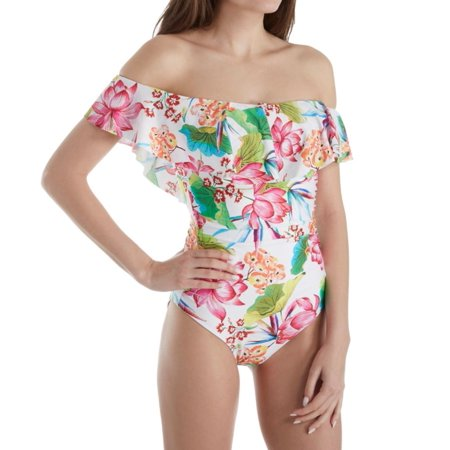 c48b89e23b3d7 La Blanca - Women's La Blanca LB8YA11 Bora Bora Off The Shoulder One Piece  Swimsuit - Walmart.com