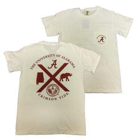 Campus Collection Alabama Symbols Crossed Short Sleeve T Shirt