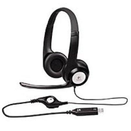 Refurbished Logitech ClearChat 981-000014 Comfort USB Headset with Microphone - (Logitech Clearchat Pc Headset)