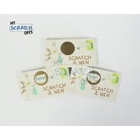 Stork Baby Shower Scratch Off Game Card - 25 Cards (1 Winner)