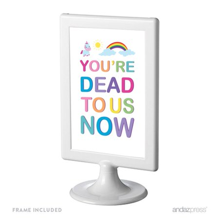 Retirement Night Photo (Funny Farewell Retirement Party Decorations, You're Dead to Us Now, Framed Party Sign, 4x6-inch)