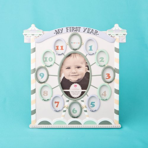 Fashion Craft My First Year Collage Circus Tent Baby Picture Frame