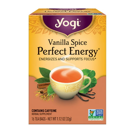 (6 Boxes) Yogi Tea, Vanilla Spice Perfect Energy Tea, Tea Bags, 16 Ct, 1.12 OZ