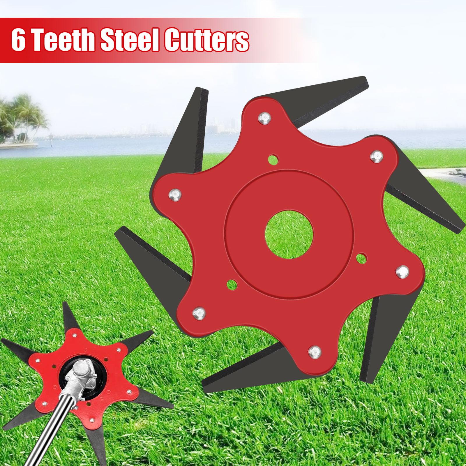 6 Steel Blades Razor 65Mn Lawn Mower Trimmer Head Garden Brush Cutter Universal