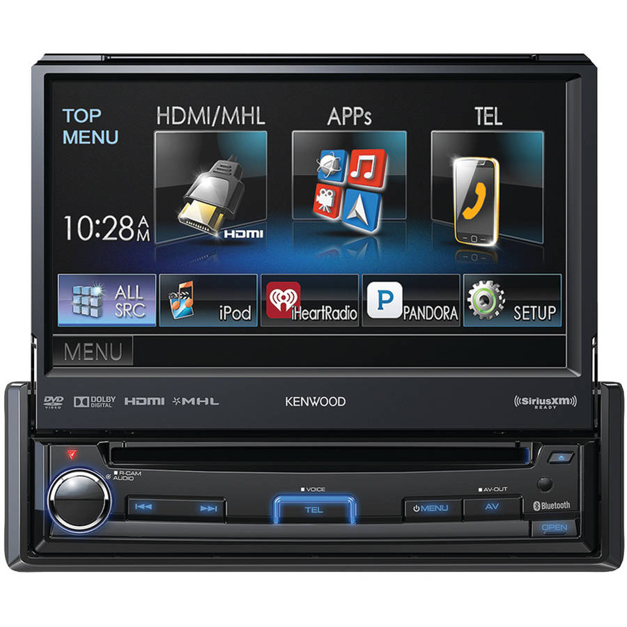 "Kenwood Kvt-7012bt 6.95"" Single-DIN In-Dash Motorized LCD Touchscreen DVD Receiver with Bluetooth, True Mirroring,... by Kenwood"