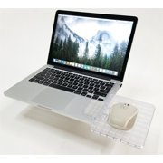 Creator's Mouse Ledge - Clear - Laptop Computer Extension Surface Platform Table For Your Mouse -  Attaches Directly To Either Side Of Your Laptop Turning It Into A Portable Workstation
