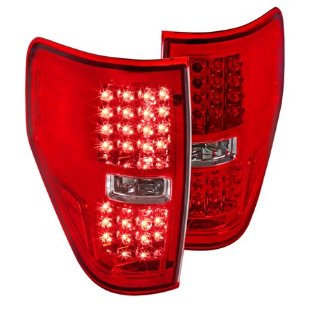 Spec-D Tuning For 2009-2014 Ford F150 Pickup Xl Xlt Led Red Tail Lamps Rear Brake Lights Replacement (Left + Right) 2009 2010 2011 2012 2013 (2013 Ford F 150 Xlt Owners Manual)