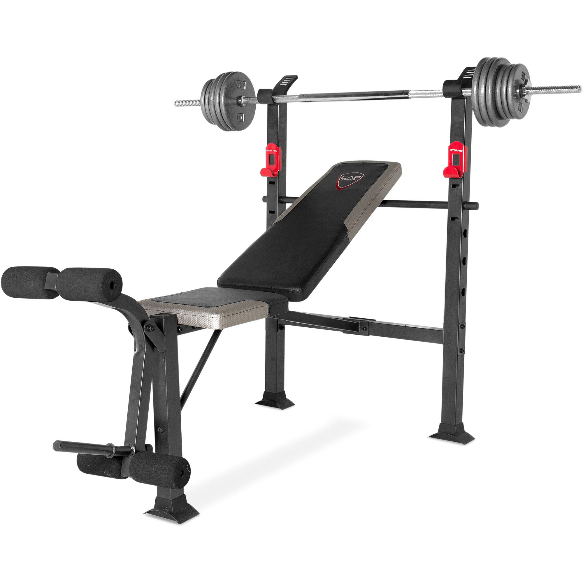 CAP Strength Deluxe Standard Bench with 100 lb Weight Set Walmartcom
