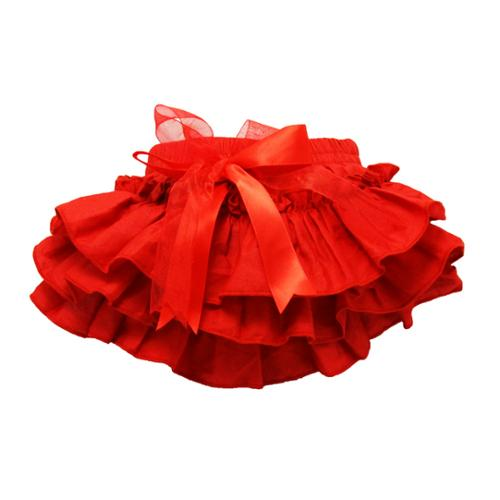 Baby Girls Red Cotton Ruffle Bloomers 0-36 Months