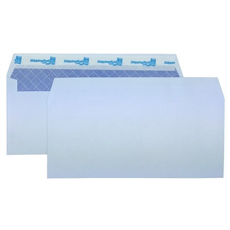 (1000) ShippingMailers Brand 4 1/8 x 9 1/2 White #10 Envelopes /w Self Adhesive Flap (Security Tinted)