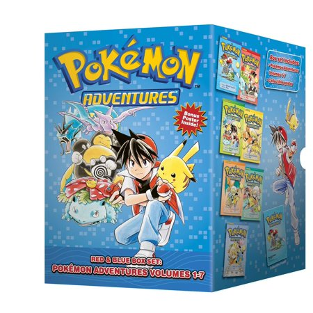 Pokémon Adventures Red & Blue Box Set : Set Includes Vol. 1-7 (Adventure Smart Box)