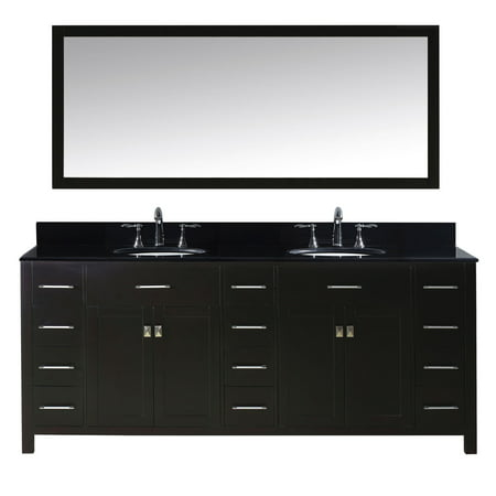 Virtu Md 2178 Bgro Es 002 Caroline Parkway 78 Inch Double Bathroom Vanity Set In Espresso