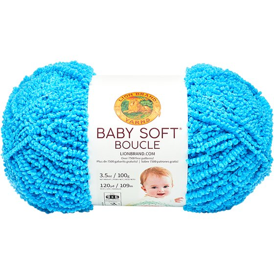 Lion Brand Baby Soft Boucle Yarn-Aqua - Walmart.com