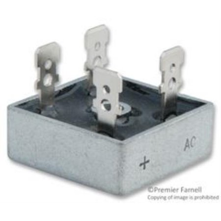 2X NEW No.10P1415 Solid State Kbpc2510 Diode, Bridge Rectifier, 1Phase, 25A, 1Kv ()