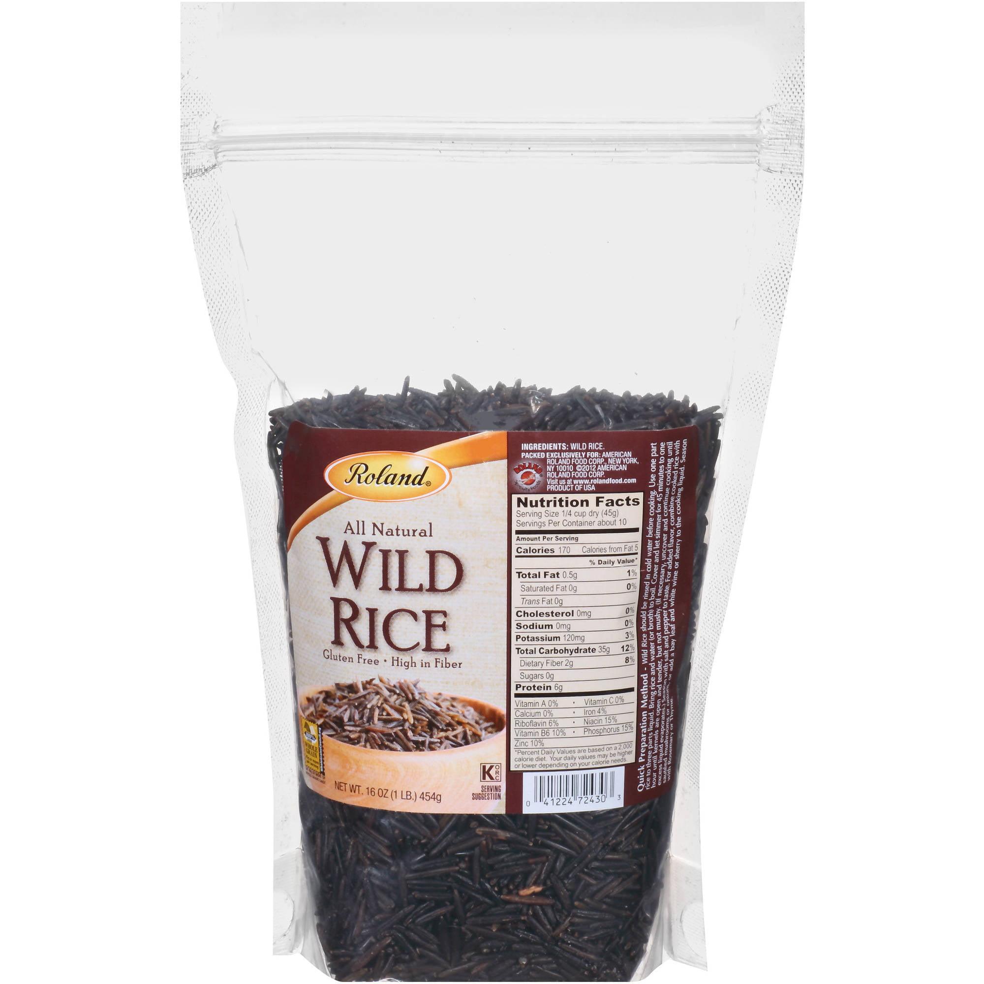 Roland All Natural Wild Rice, 16 oz