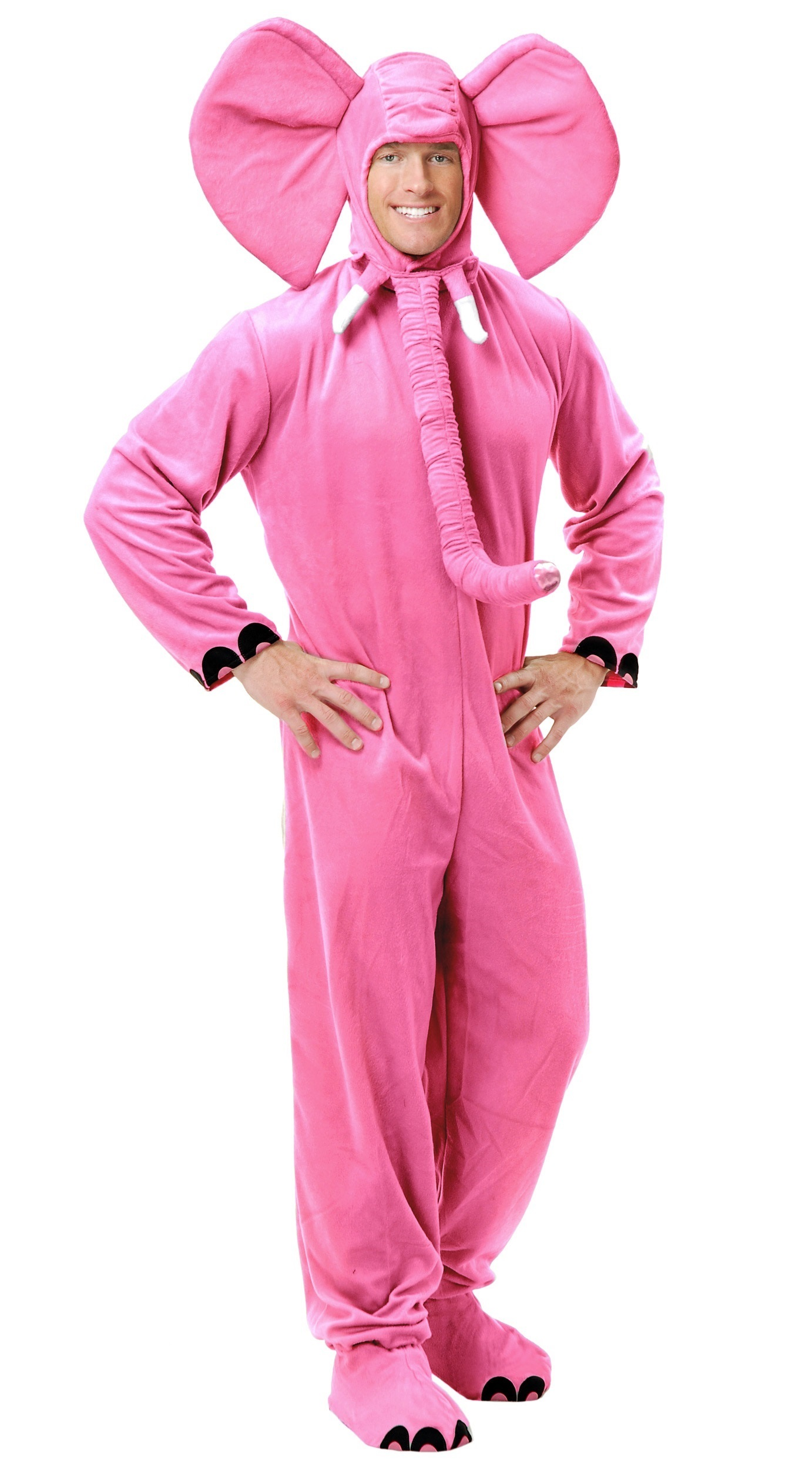 source pink elephant jumpsuit adult halloween costume safari animal mens