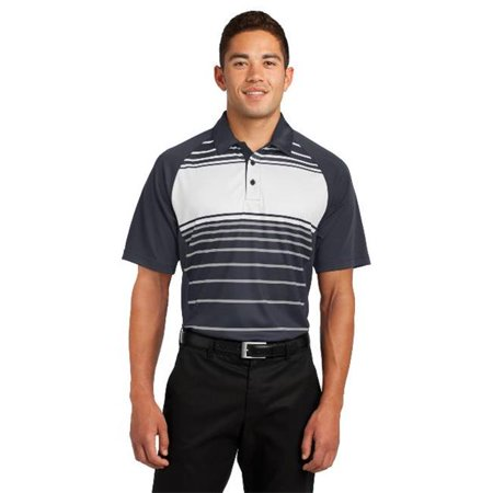ST600 Mens Dry Zone Sublimated Stripe Polo T-Shirt, Black - Extra Small