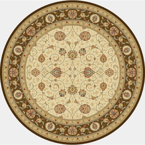 Crescent Drive Rug Company Ancient Garden Ivory/Chocolate Area Rug