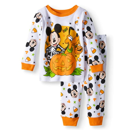 Baby Boys' Halloween Glow-in-the-Dark Cotton Tight Fit Pajamas, 2-Piece Set