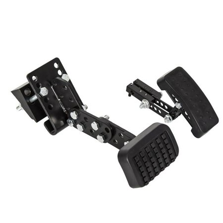 Ecotric Gas and Brake Black Pedal Enhancement Extenders Kit for Cars, Go Kart, Ride on Toys