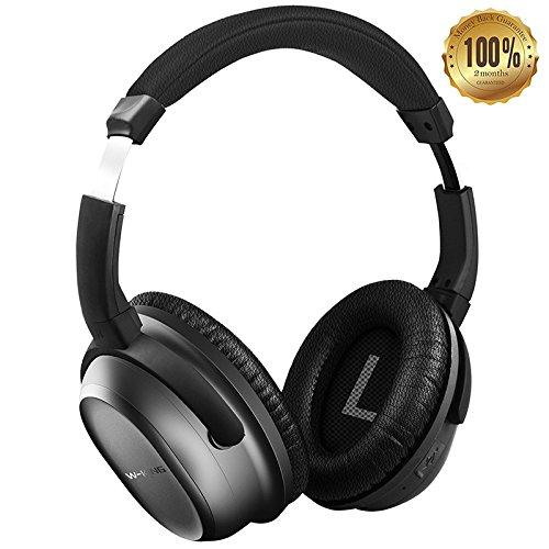 w-king headphones active noise cancelling bluetooth 4.0 h...