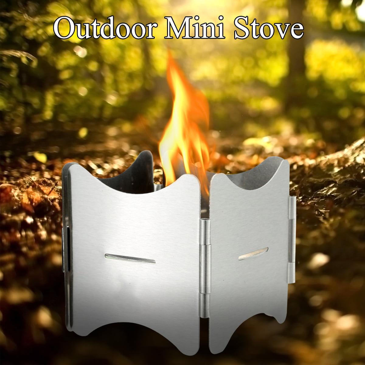 Mini Portable Folding Picnic Cooking Stove Barbecue Solid Fuel Alcohol Oven KI