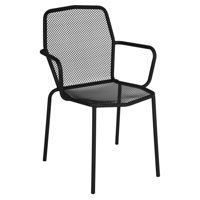 BFM Seating Avalon Galvanized Steel Stackable Patio Dining Chair