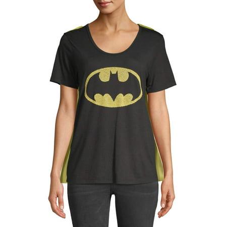 Batman Juniors' Halloween Costume with (Women's Batman Shirt With Cape)