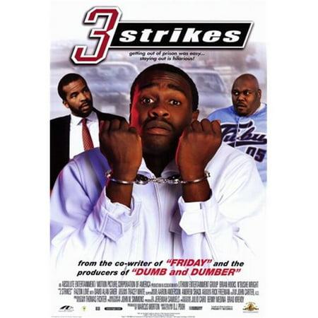 Pop Culture Graphics MOV205278 Three Strikes Movie Poster, 11 x 17