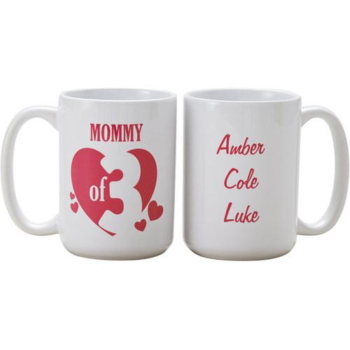 Personalized Kids of My Heart 15oz Coffee Mug