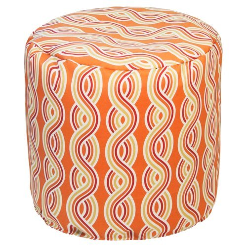 Gold Medal 19 x 17 in. Serpentine Outdoor Pouf
