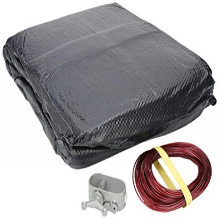 GLI Aquacover Classic 10 FT X 15 FT Oval Solid Winter Cover System for Above Ground Pools
