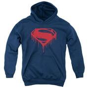 Batman Vs Superman Splattered Big Boys Pullover Hoodie