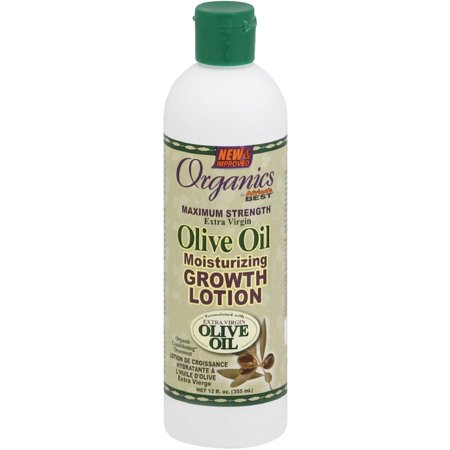 Africa's Best Organics Maximum Strength Extra Virgin Olive Oil Moisturizing Growth Lotion 12 oz (Pack of