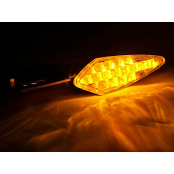 Mini Custom LED Turn Signal Indicator Lights Lamp For Honda Motorsport 75 100 125 175 200 350 500 600 - image 3 de 4
