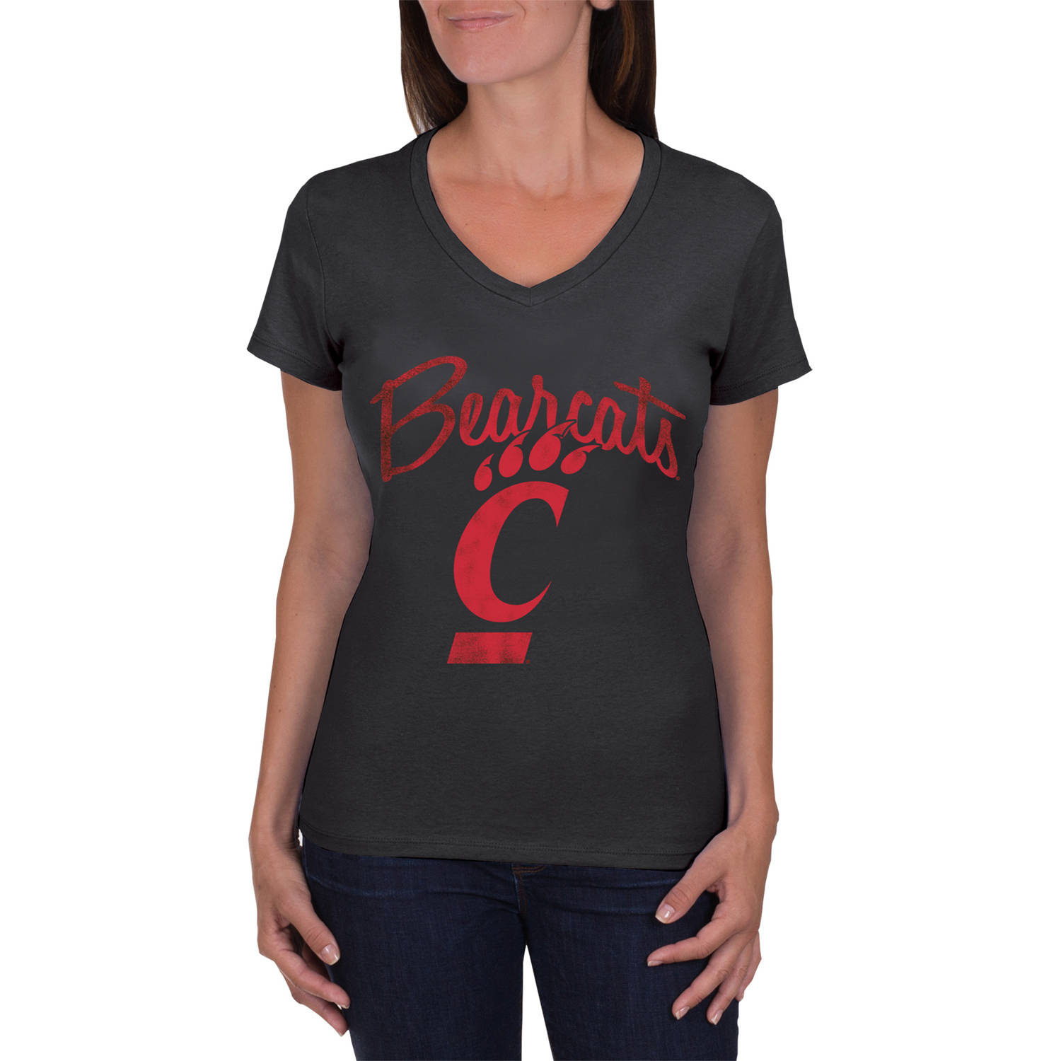NCAA Cincinnati Bearcats Women's V-Neck Tunic Cotton Tee Shirt