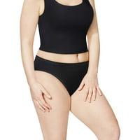 Women's Plus Cotton Bikini Panties - 5 Pack