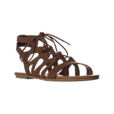 Womens Marlie Flat Lace-Up Sandals, Maple