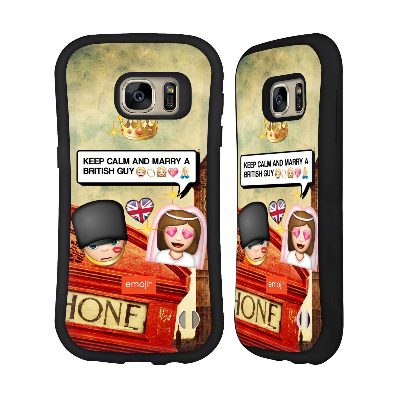 OFFICIAL EMOJI PHOTO GRAPHIC HYBRID CASE FOR SAMSUNG PHONES