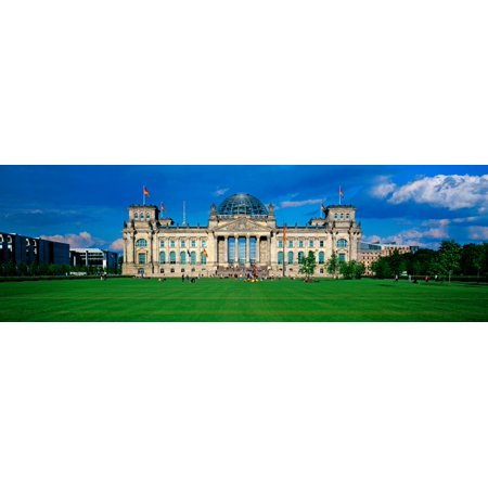 Facade of the government building The Reichstag Berlin Germany Poster Print