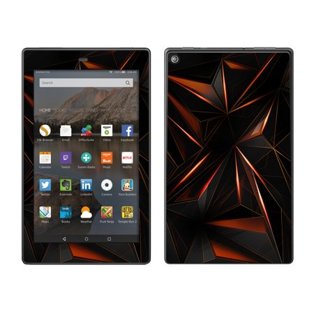 - Skin Decal For Amazon Fire Hd 8 Tablet / Sharp Glass Like Crystal Abstract