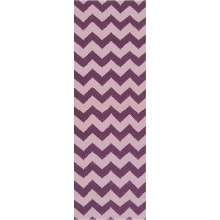 Surya Frontier Berry Light Orchid Chevron Area Rug Com