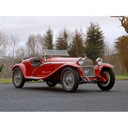 1930 Alfa Romeo supercharged Tipo 6C-1750 2-seater sports car with a 175 litre inline 6 engine giving 95bhp and a top speed of 90mph Country of origin Italy Canvas Art - Panoramic Images (18 x 24)