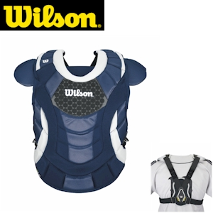 Wilson ProMOTION Fastpitch Chest Protector - 16.5in Adult - Navy