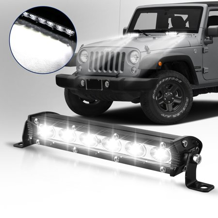 TSV LED Light Bar Nilight 7 Inch 18W Spot Flood Combo LED Driving Lamp Off Road Lights LED Work Light Boat Jeep Lamp 4WD (1/2