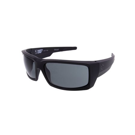 Spy Sunglasses 673118973863 General Lens Scratch Resistant Lenses Wrap Athletic, Soft Matte Black