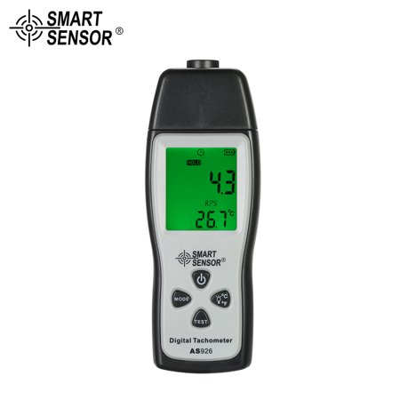 SMART SENSOR Professional Handheld Digital Photo Tachometer Laser Non-Contact Tach Range 100RPM-30000RPM LCD Display Motor Speed Meter with 3pcs Reflective Tape