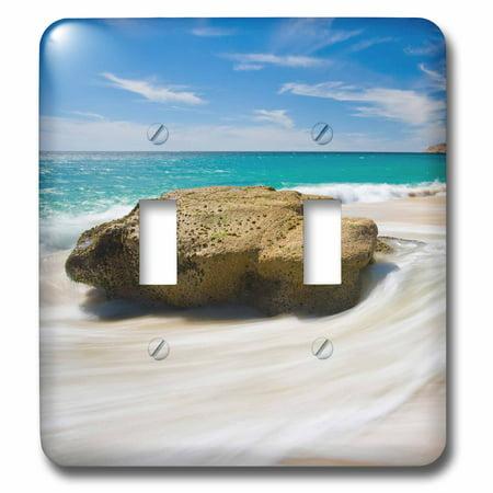 3dRose Mexico, Cabo San Lucas. Ocean shore landscape. - Double Toggle Switch - Lucas Switches