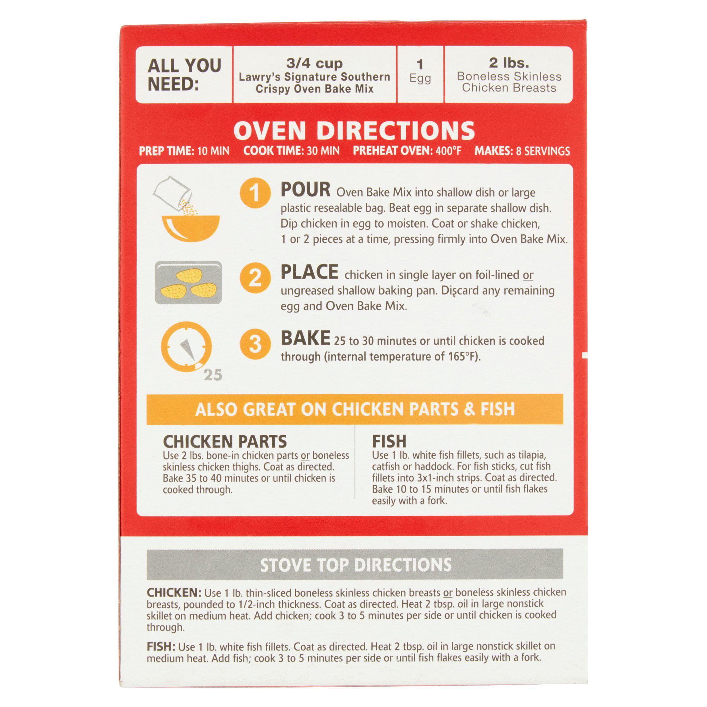Lawry's Signature Southern Seasoned Crispy Oven Bake Coating Mix, 587 Oz   Walmart