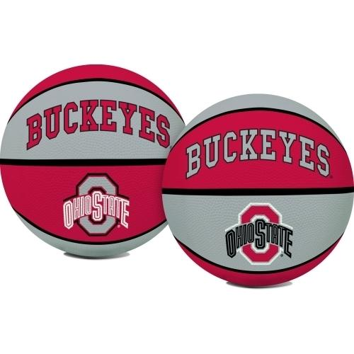 Ohio State Buckeyes Official NCAA  Crossover Full Size Indoor Outdoor Rubber Basketball by Rawlings